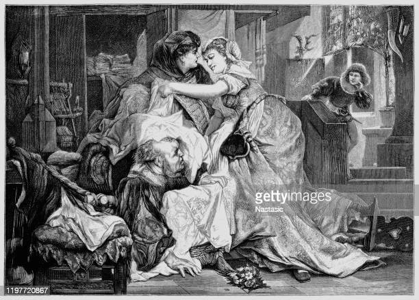 the merry wives of windsor is a comedy by william shakespeare first published in 1602, though believed to have been written in or before 1597 - windsor castle stock illustrations