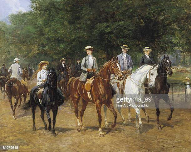The morning ride, Rotten Row, Hyde Park, London