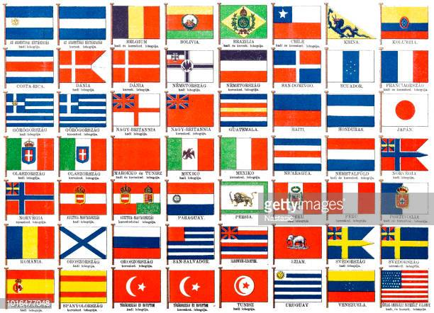 The most important military and commercial flags