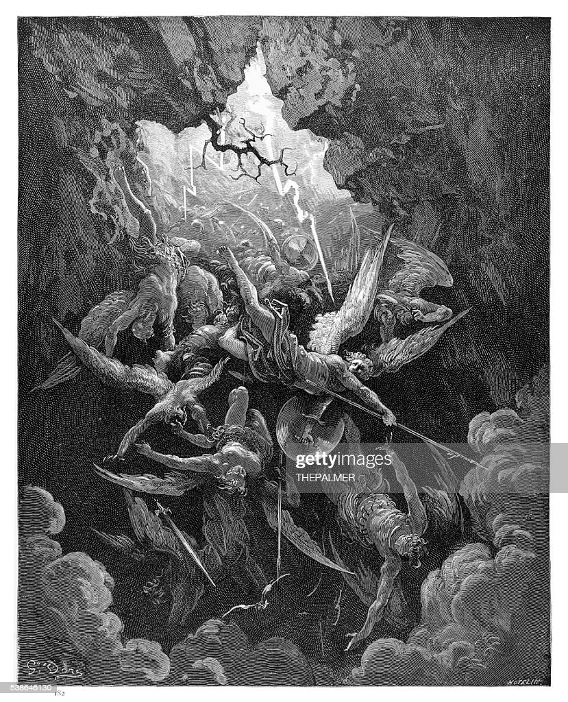 The Mouth of Hell of engraving : stock illustration