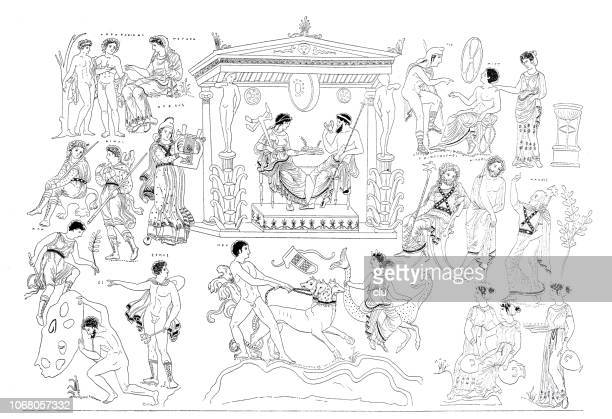 the mythological greek underworld - greek culture stock illustrations, clip art, cartoons, & icons