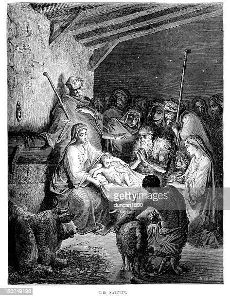 ilustrações de stock, clip art, desenhos animados e ícones de o nativity - renascimento