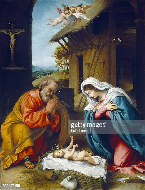 the nativity of jesus christ - nativity scene stock illustrations