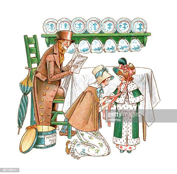 the new hat - sunday best stock illustrations, clip art, cartoons, & icons