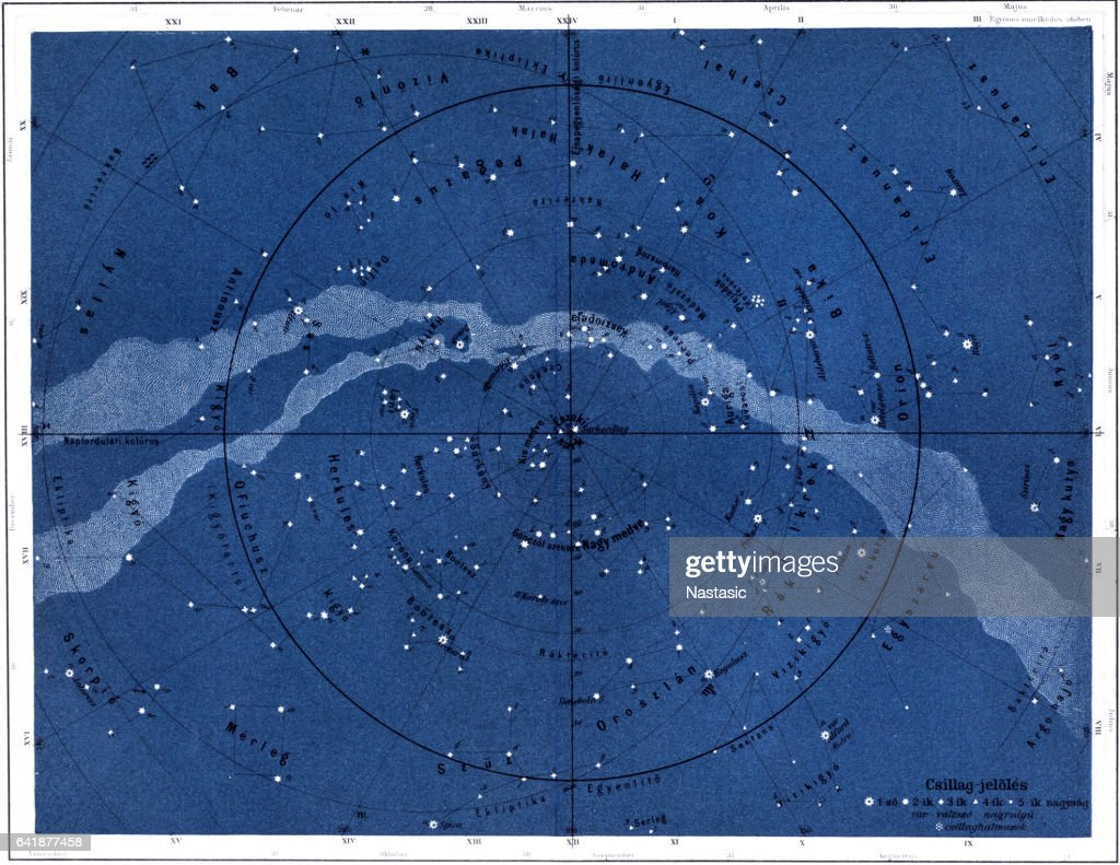 The northern sky : stock illustration
