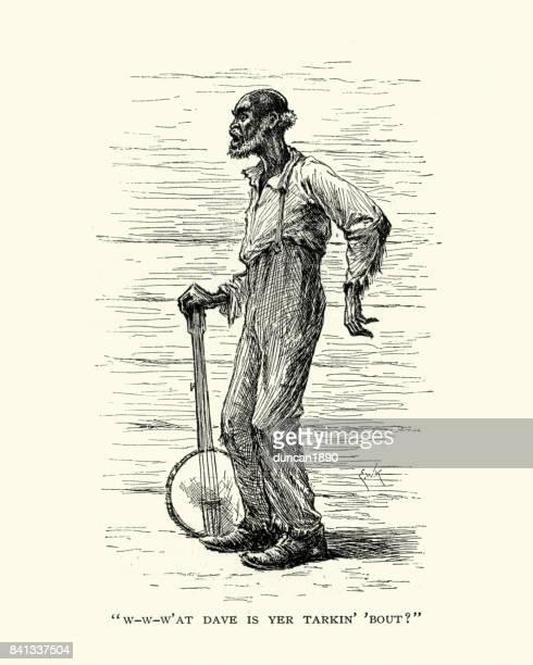 El viejo jugador del banjo, del siglo XIX