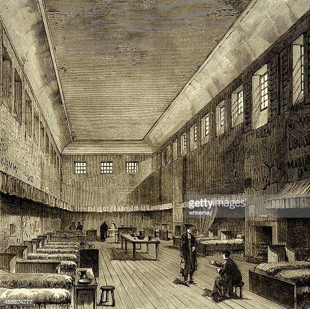 the old dormitory, westminster school, 1840 - bedroom stock illustrations, clip art, cartoons, & icons