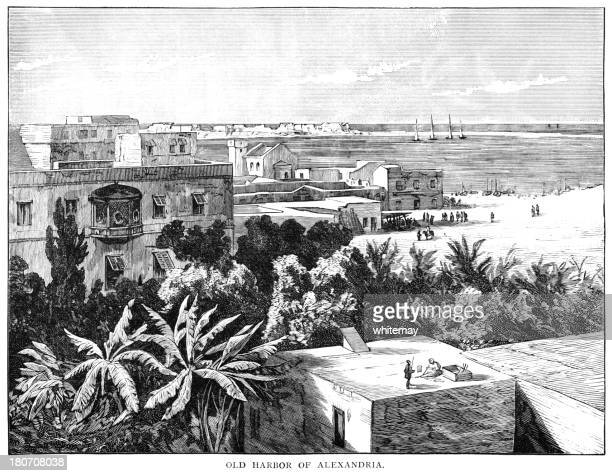 The Old Harbour of Alexandria, Egypt