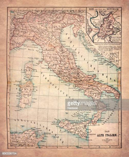 the old italy - piedmont italy stock illustrations