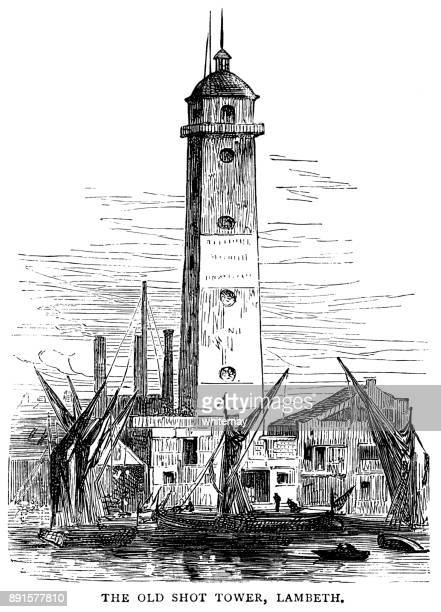 The old Shot Tower in Lambeth, London