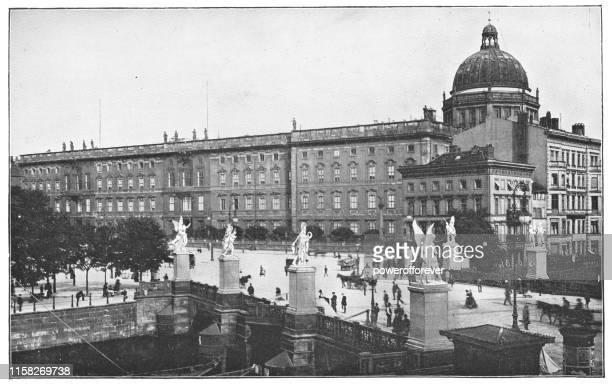 ドイツ、ベルリンのオリジナルベルリン市宮殿 - ドイツ帝国19世紀 - ベルリン王宮点のイラスト素材/クリップアート素材/マンガ素材/アイコン素材