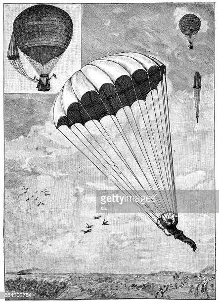 The parachute of the airship Leroux