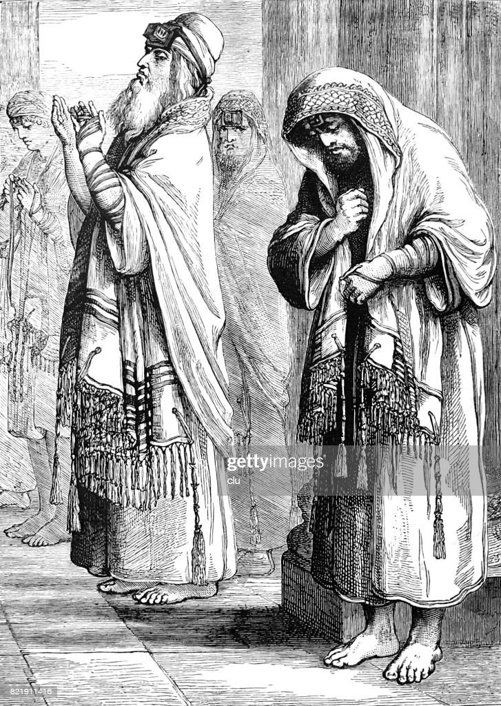 The pharisee and the publican : stock illustration