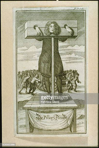 the pillory - pillory stock illustrations