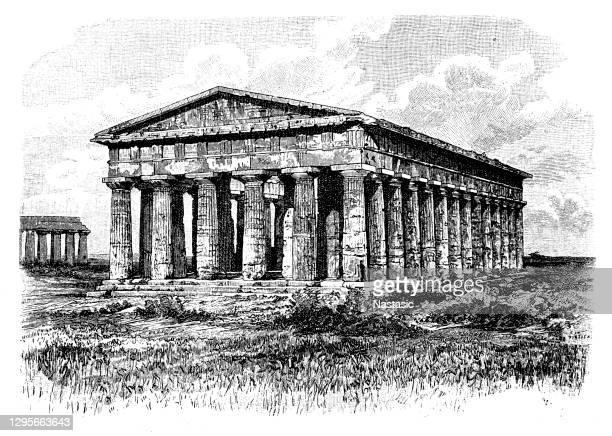 パエストゥムのポセイドン寺院 - ポセイドン点のイラスト素材/クリップアート素材/マンガ素材/アイコン素材