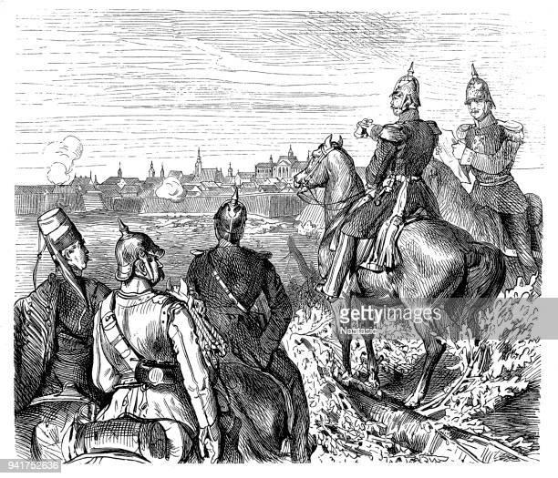 the prince of prussia in rastatt. - lorraine stock illustrations, clip art, cartoons, & icons