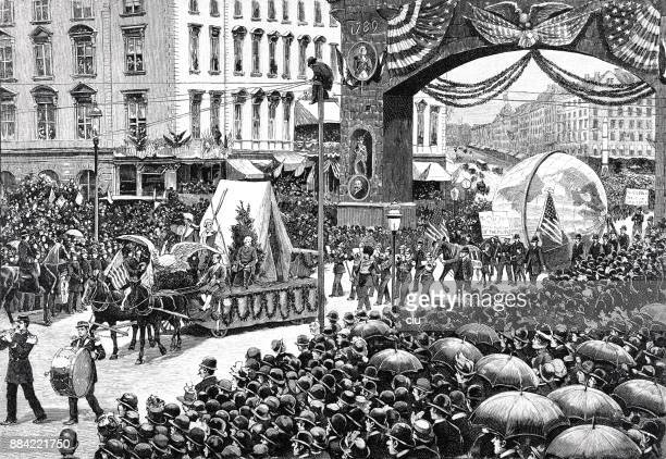 The procession of New York City from 1. Mail 1889