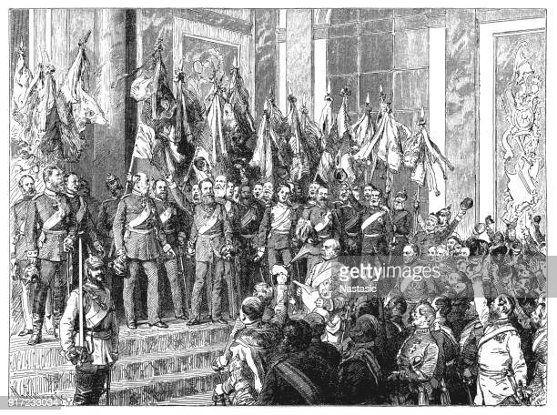 The Proclamation of the German Empire (18 January 1871) in the Hall of Mirrors of Versailles Palace, France