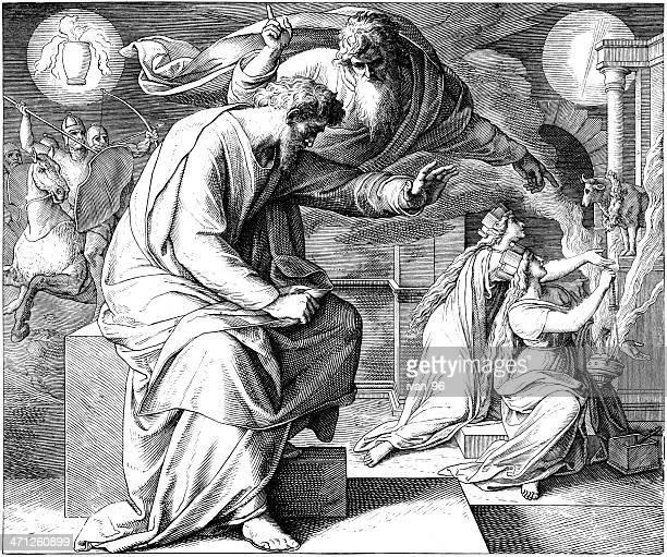 ilustraciones, imágenes clip art, dibujos animados e iconos de stock de el profeta jeremiah - los siete pecados capitales