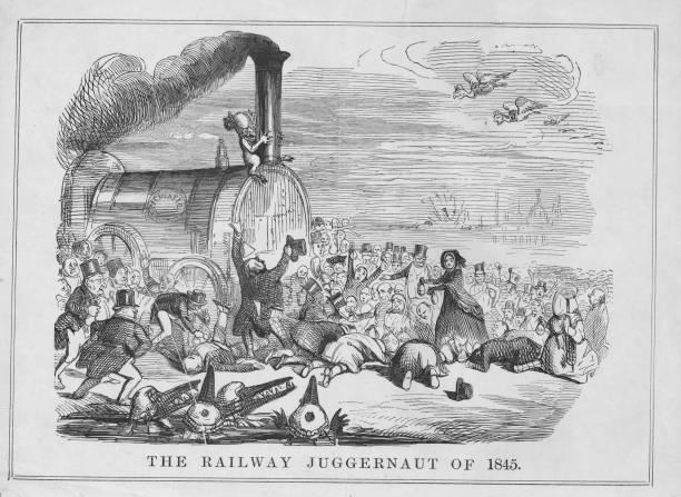 The railway juggernaut of 1845. Original Publication:...