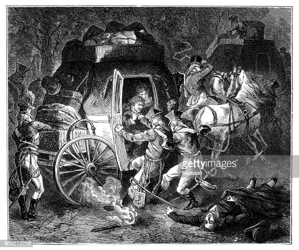 the rastatt sent murder in the night of april 29, 1799 ended the peace efforts between france and austria - lorraine stock illustrations, clip art, cartoons, & icons
