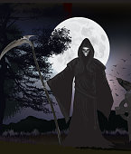 The reaper and crow