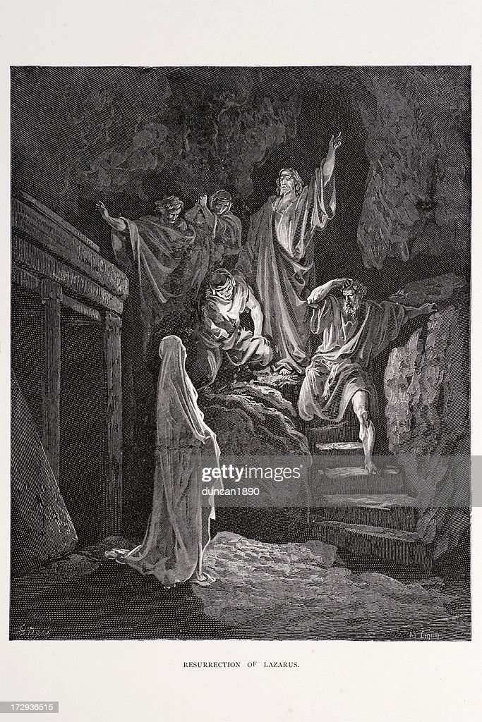 The resurrection of Lazarus : stock illustration