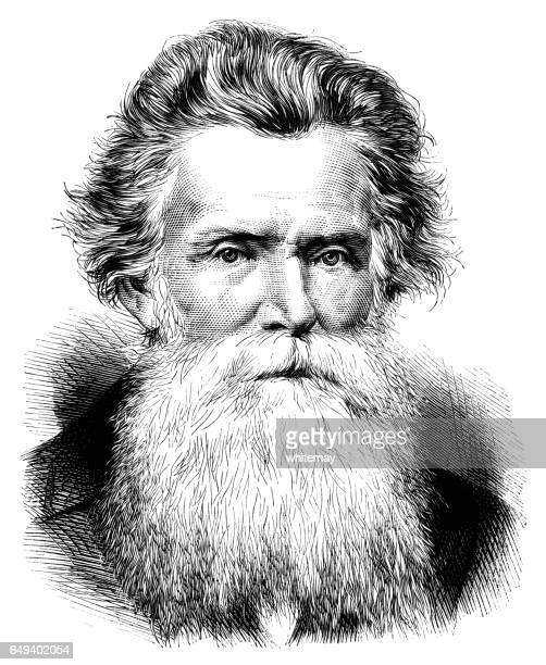 the revd. alexander duff - beard stock illustrations, clip art, cartoons, & icons