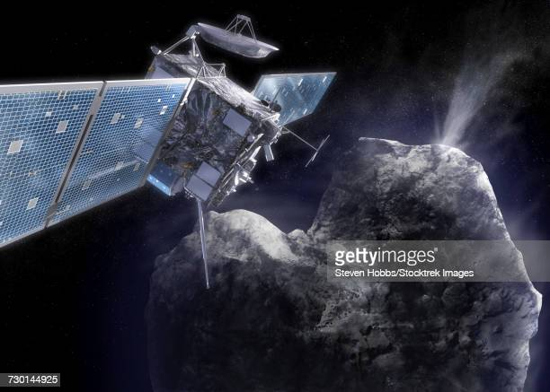 The Rosetta probe arrives at its destination and begins to explore a comet up close.