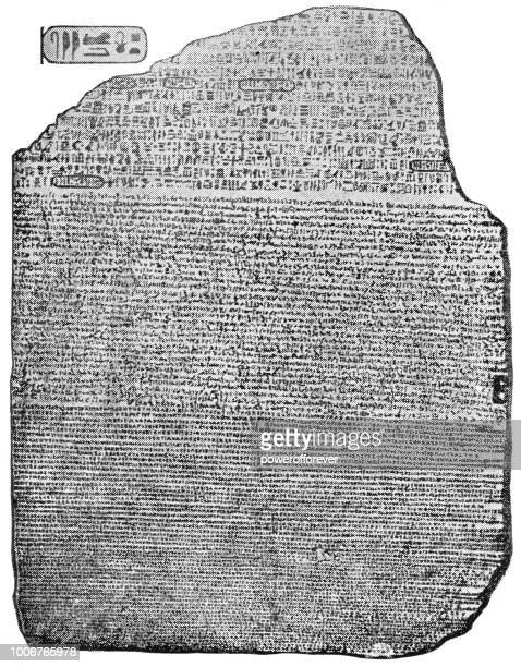the rosetta stone - archaeology stock illustrations