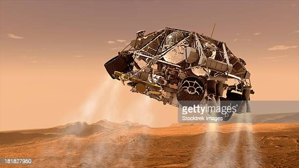 The rover and descent stage for NASA's Mars Science Laboratory spacecraft.