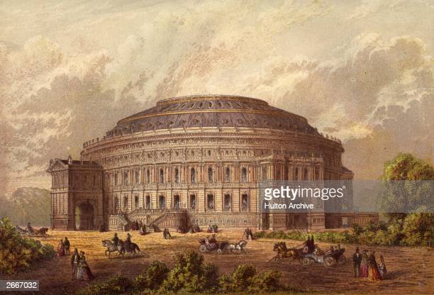 The Royal Albert Hall of Arts and Sciences in London's Kensington, built between 1867 and 1871 as a monument to Prince Albert.