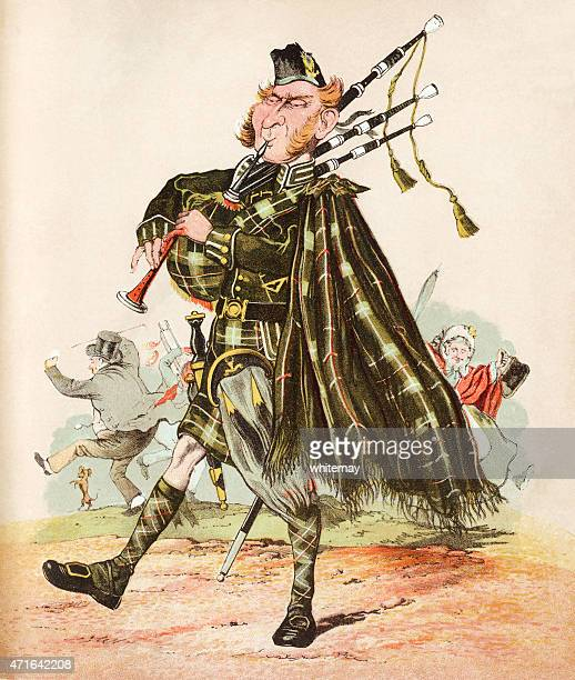 The Scottish Piper - Victorian print