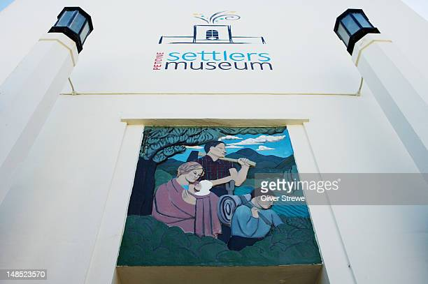 the settlers museum, petone. - capital letter stock illustrations
