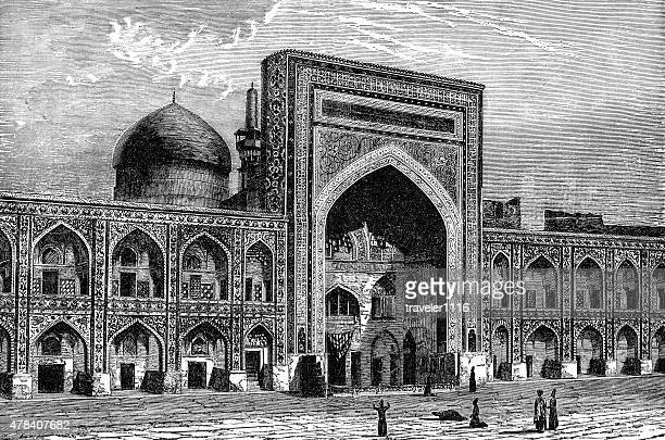 「サハフモスクの isfahan 、イラン - イマームホメイニ広場点のイラスト素材/クリップアート素材/マンガ素材/アイコン素材