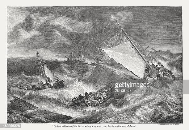 The Shipwreck (1805) by J.M.W. Turner, published in 1873
