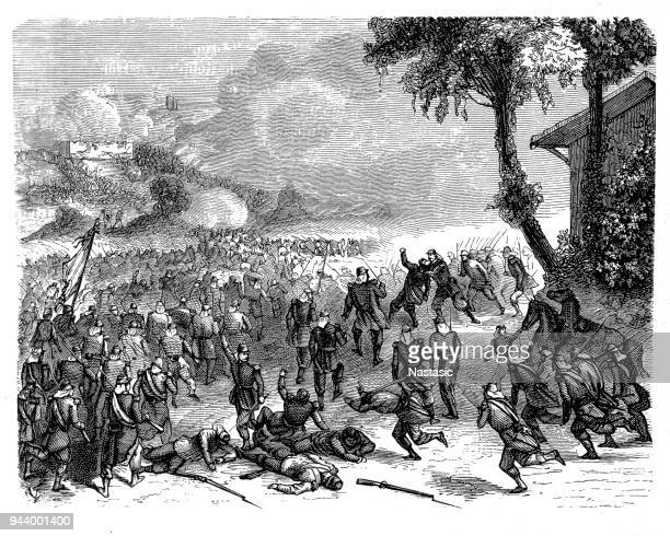the siege of los angeles was a military response by armed californios to the occupation, which had begun august 13, 1846, by the united states marines of the pueblo de los angeles during the mexican–american war - mexican american war stock illustrations