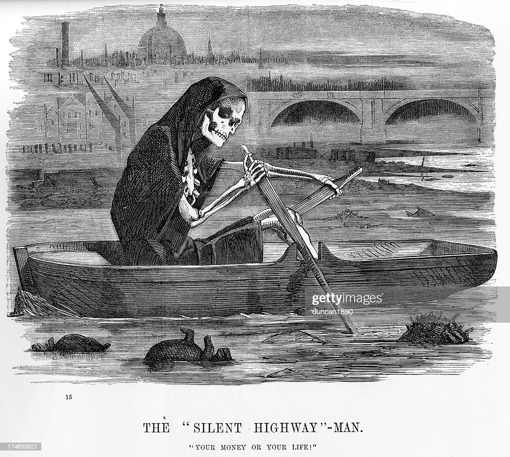 The silent highway man : Stock Illustration