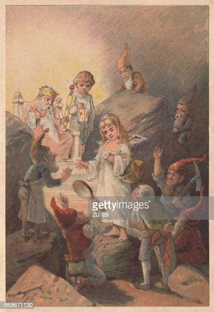 the silver child (das silberkindchen), lithograph, published in 1891 - brownie stock illustrations, clip art, cartoons, & icons