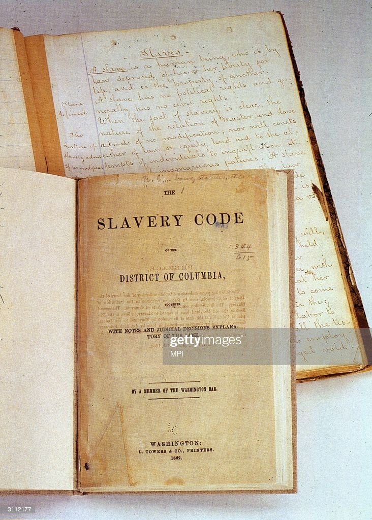 The slavery code of the District of Columbia.