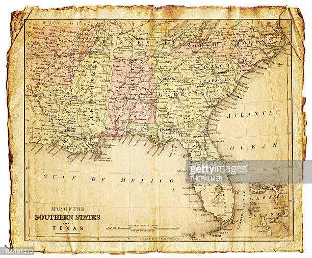 the southern states usa map