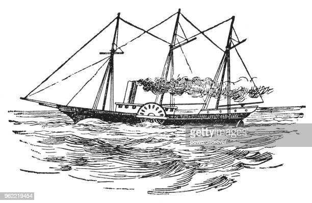 """The """"SS Royal William"""" Paddlewheel Steamship in Canada - 19th Century"""