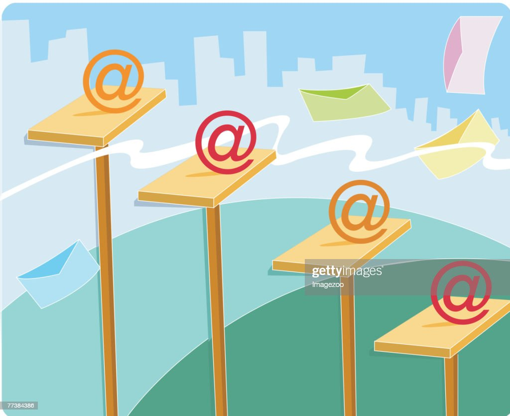 The steps of email marketing : stock illustration