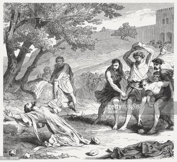 The Stoning of Stephen (Acts 7, 54-60), published in 1886