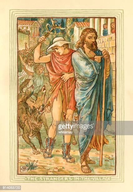 The strangers in the village - Greek mythology