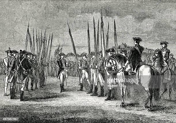 ilustraciones, imágenes clip art, dibujos animados e iconos de stock de la entrega de cornwallis - american revolution