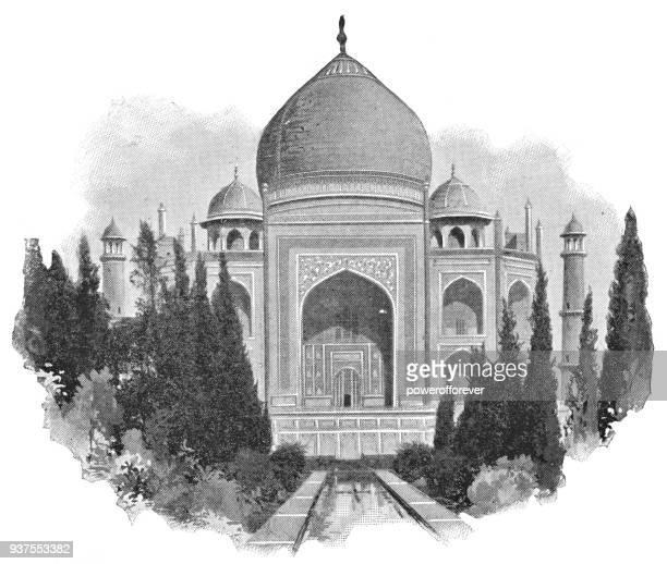 The Taj Mahal in Agra, India - British Era