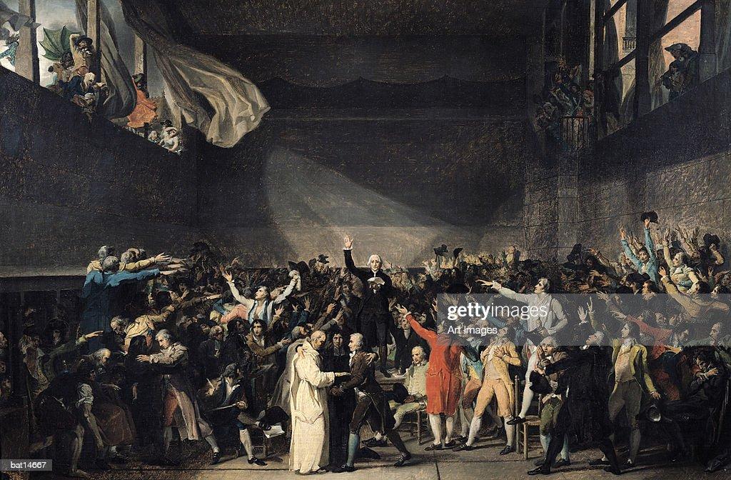 The Tennis Court Oath, 20th June 1789, 1791 (oil on canvas) : Fine art