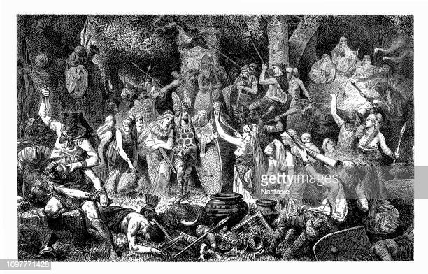 The Teutons were an ancient tribe mentioned by Roman authors ,German Tribal Feast