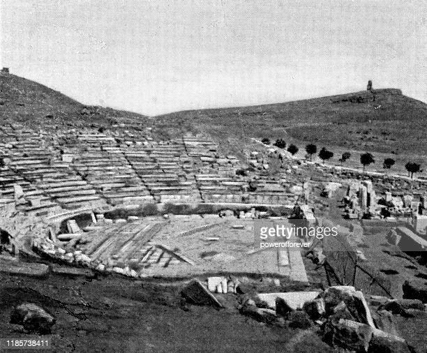 THEATRE OF DIONYSUS STAGE ATHENS GREECE 8x10 SILVER HALIDE PHOTO PRINT